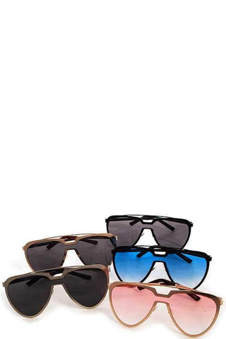 Modern Aviator Retro Pop Sunglasses - dress4less.com