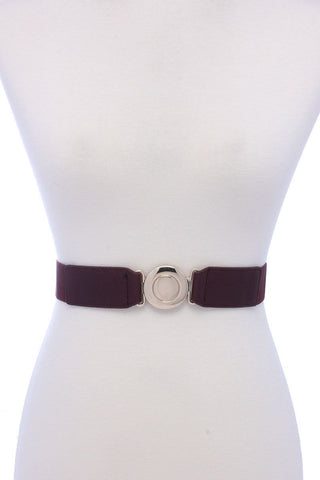 Metal Buckle Elastic Belt - dress4less.com
