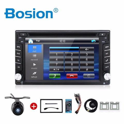 Car Electronic 2din car dvd player GPS Radio Tuner PC Video Monitors for universal RDS Blutooth digital tv (option) Free camera