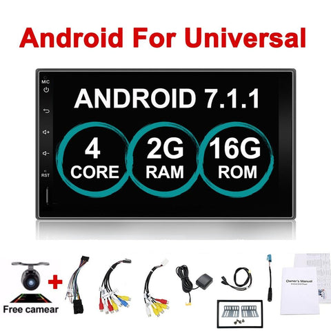 "Car Electronic 7"" 2Din Android Car GPS Tap PC Tablet 2 din Universal For Nissan GPS Navigation BT Radio Stereo Audio Without DVD"