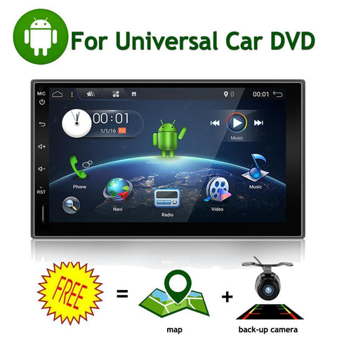 Car Electronic Android 7.1 2din Car Multimedia Player GPS Navigaiton Camera Map 7'' HD Touch Screen Bluetooth Autoradio (no DVD)