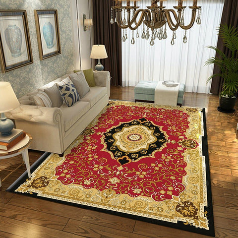 European Persian style carpet living room luxury bedroom carpet classical Turkish floor mat home decoration coffee table carpet
