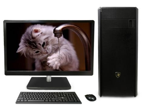 Gaming desktop Intel core i3/i5/i7 /2GB/4GB/8gb ram 120Gb/1tb HDD with 18.5 22 24 inch LCD HD 1080p display PC computer desktops