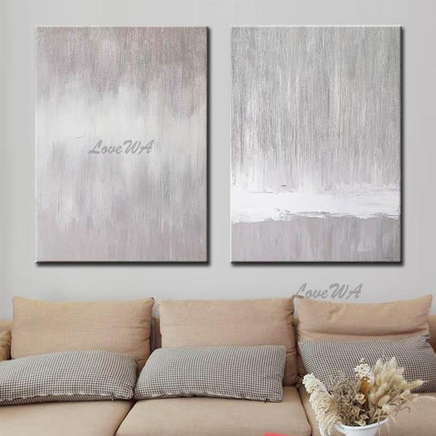 Hand-painted 2 Pieces Canvas Wall Art Modern Oil Painting Wall Picture 2 Pieces Wall Art For Living Room Dining Room Decoration
