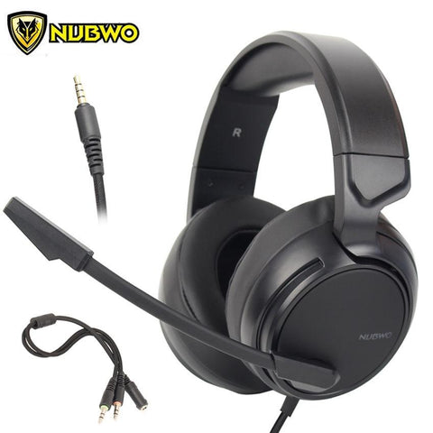 NUBWO N12 PS4 Gaming Headset Best PC Gamer casque Stereo Gaming Headphones with Mic for New Xbox One/Laptop/Nintendo Switch