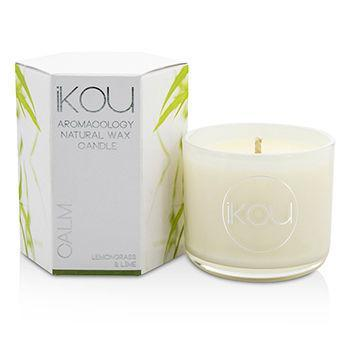Eco-Luxury Aromacology Natural Wax Candle Glass - Calm (Lemongrass & Lime) - (2x2) inch