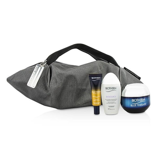 Blue Therapy X Mandarina Duck Coffret: Cream SPF15 N-C 50ml + Serum-In-Oil 10ml + Cleansing Water 30ml + Handle Bag - 3pcs+1bag