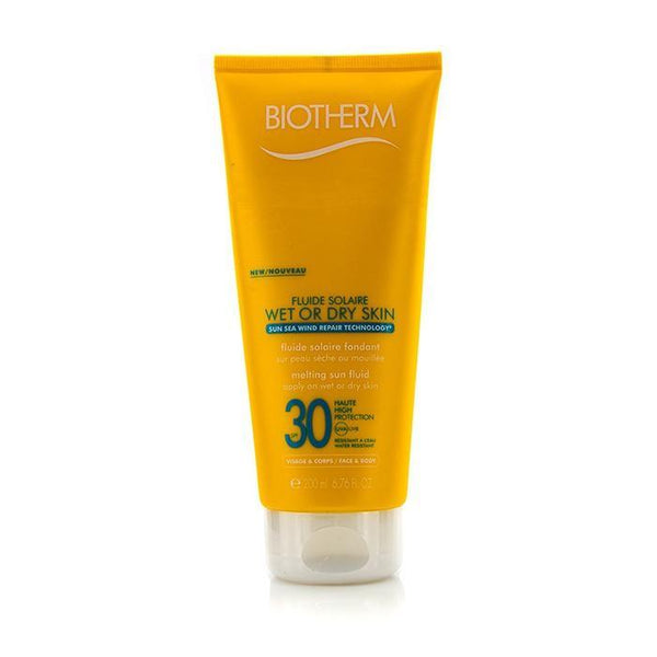 Fluide Solaire Wet Or Dry Skin Melting Sun Fluid SPF 30 For Face & Body - Water Resistant - 200ml-6.76oz