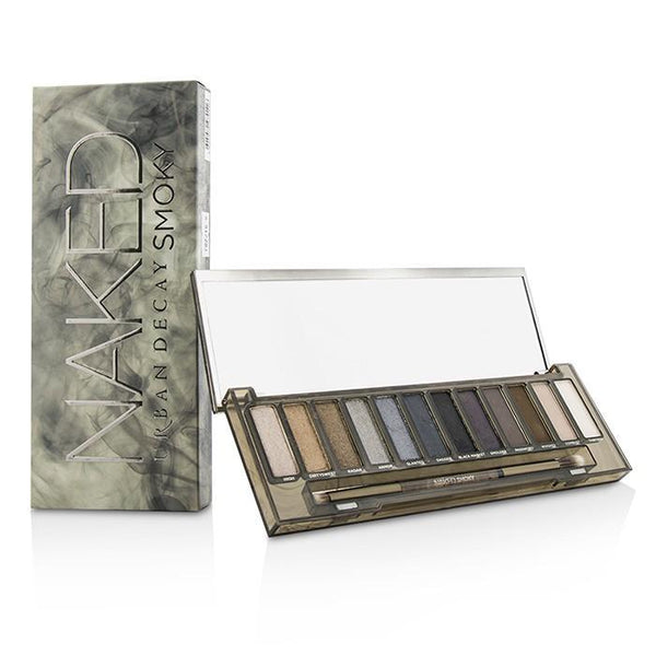Naked Smoky Eyeshadow Palette (12x Eyeshadow, 1x Doubled Ended Smoky Smudger-Tapered Crease Brush) - -