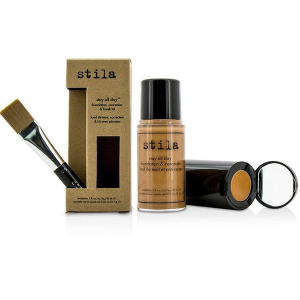 Stay All Day Foundation, Concealer & Brush Kit - # 12 Tan (Box Slightly Damaged) - -