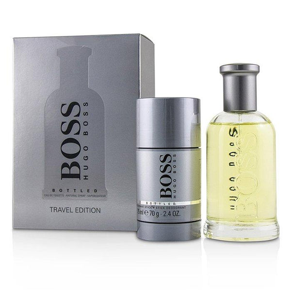 Boss Bottled Coffret: Eau De Toilette Spray 100ml-3.3oz + Deodorant Stick 70g-2.4oz - 2pcs