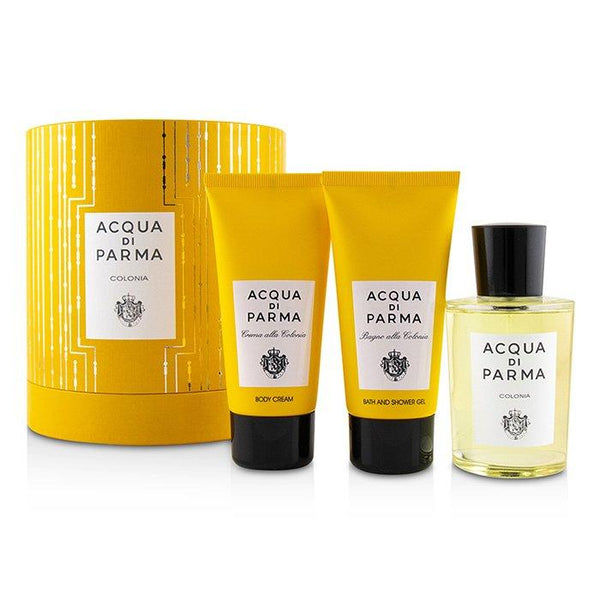Colonia Coffret: Eau De Cologne Spray 100ml-3.4oz + Bath And Shower Gel 75ml-2.5oz + Body Cream 75ml-2.5oz - 3pcs