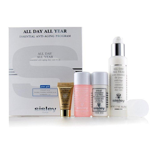 All Day All Year Essential Anti-Aging Program: All Day All Year 50ml + Cleansing Milk 30ml + Floral Toning Lotion 30ml + Supremya At Night 5ml - 4pcs