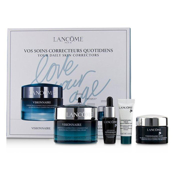 Visionnaire Set: Advanced Multi-Correcting Cream+Nuit Beauty Sleep Perfector+Eye Balm+Genifique Advanced Concentrate - 4pcs