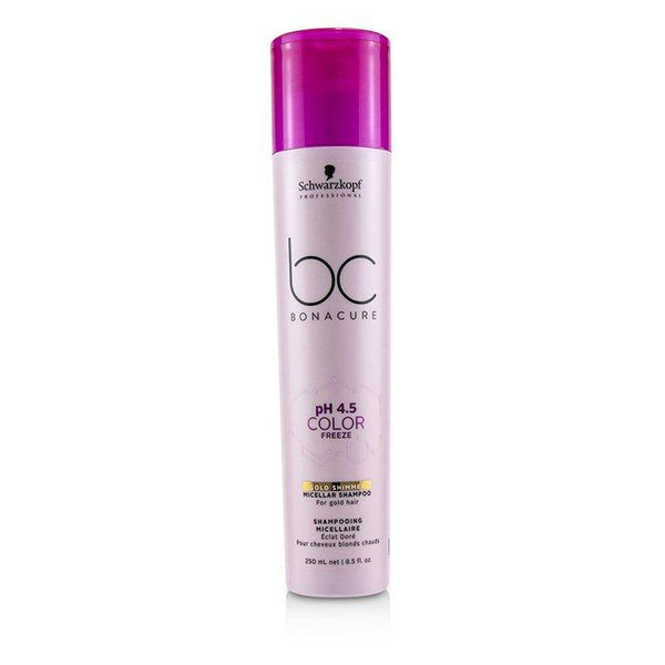 BC Bonacure pH 4.5 Color Freeze Gold Shimmer Micellar Shampoo (For Gold Hair) - 250ml-8.5oz