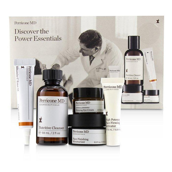 Discover The Power Essentials Kit: Nutritive Cleanser+Firming Activator+Finishing Moisturizer+Eye Cream+Vitamin C Ester - 5pcs