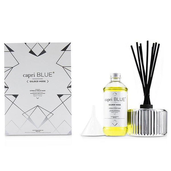 Gilded Muse Reed Diffuser - Citrus & Violet Haze - 230ml-7.75oz
