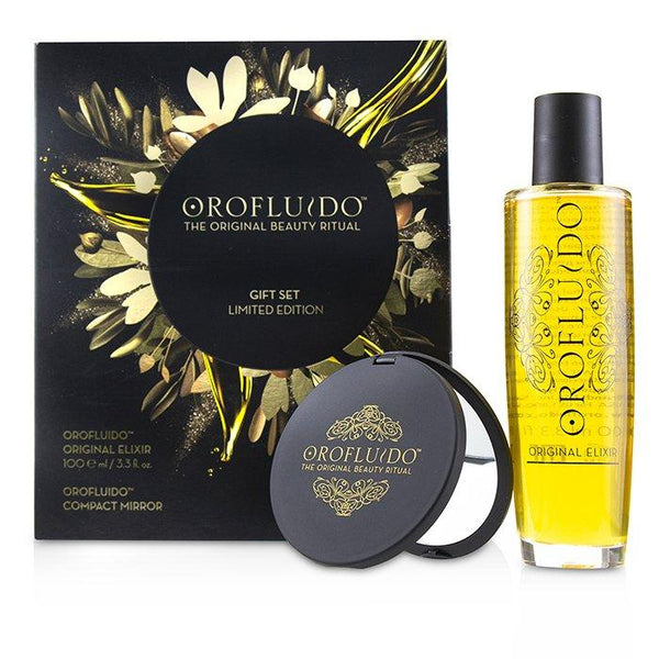 The Original Beauty Ritual Limited Edition Gift Set: Original Elixir 100ml + Compact Mirror - 2pcs