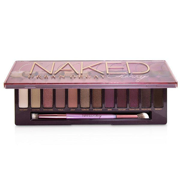 Naked Cherry Eyeshadow Palette: 12x Eyeshadow, 1x Double Ended Brush - 12x1.1g-0.038oz
