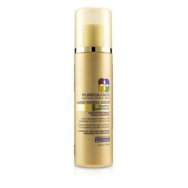 Nano Works Gold Shampoo (Youth-Renewing Formula For Demanding Colour-Treated Hair) - 200ml-6.8oz