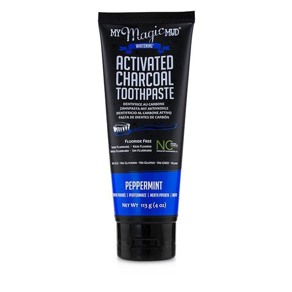 Activated Charcoal Toothpaste (Fluoride-Free) - Peppermint - 113g-4oz