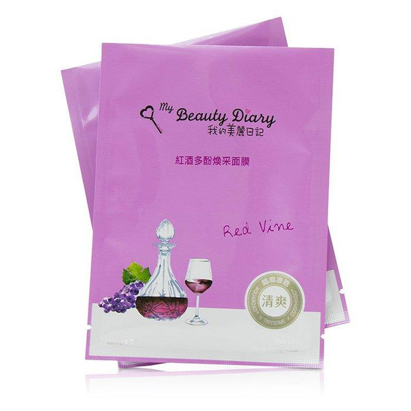 Mask - Red Vine Revitalizing (Radiance & Revitalizing) (Exp. Date 03-2020) - 8pcs