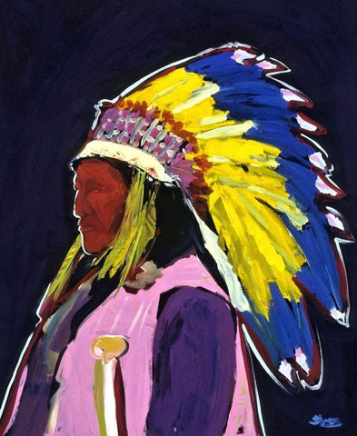 "Classic Chief, 11"" X 14"" Print from an Oil Painting by Andrew Shows"
