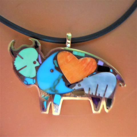 BRONZE BUFFALO PENDANT-Medium Size