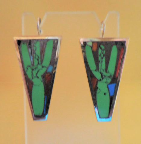 BRONZE CACTI EARRINGS