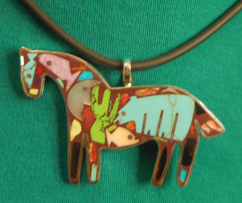 STERLING HORSE PENDANT-Medium Size