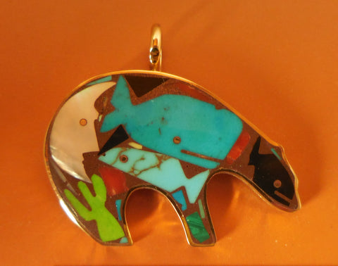 BRONZE BEAR PENDANT-Medium Size