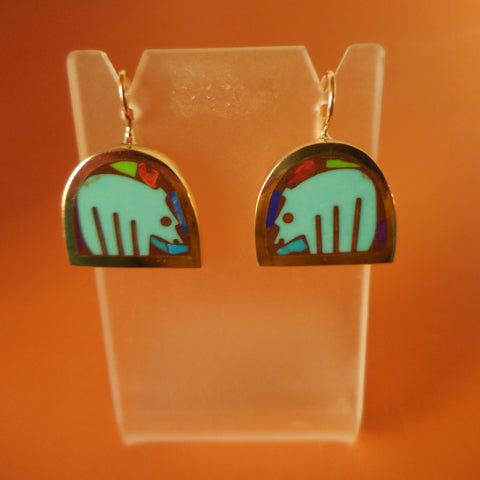 BRONZE BEAR EARRINGS