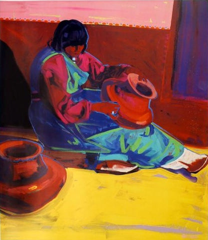 "Yellow and Clay, 32"" X 27 "" Lithograph from an Oil Painting by Andrew Shows"