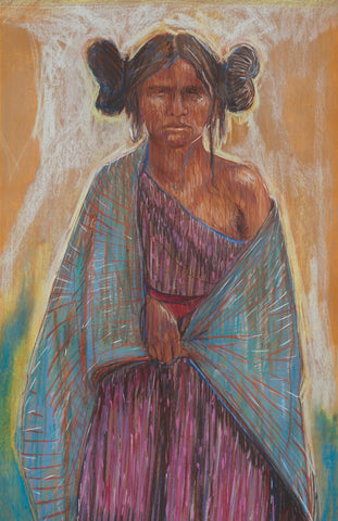 "Anasazi,  11"" X 14"" Print from a Pastel by Andrew Shows"