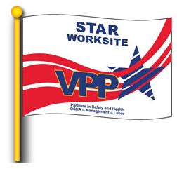 VPP Star Worksite Flag 4'x6' Double Sided - #1010964