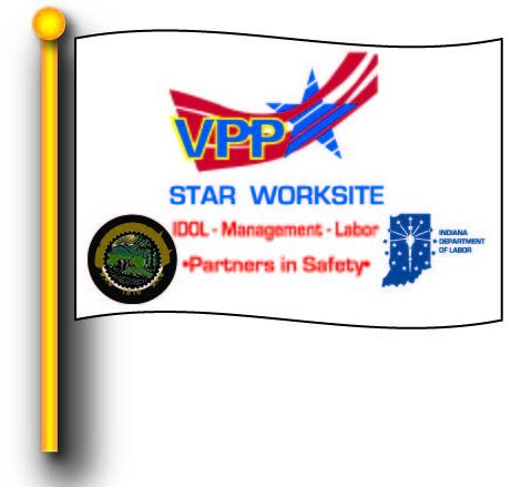 Indiana VPP Star Worksite Flag 4'x6' Double Sided - #1042495