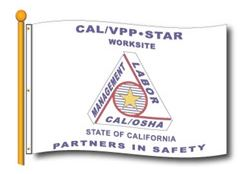 CAL/OSHA VPP Star Worksite Flag 4'x6' Double Sided - #1057719