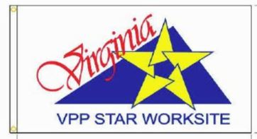 Virginia VPP Star Worksite Flag Double Sided - #1125036