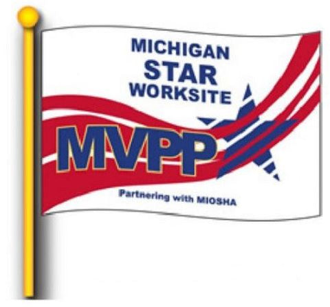 MVPP Star Worksite Flag 4'x6' Double Sided - #1134018