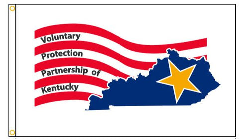 Kentucky VPP Star Worksite Flag 3'x5' Double Sided - #1142493