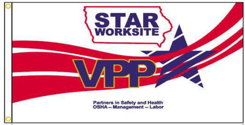 Iowa VPP Star Worksite Flag 3'x5' Double Sided - #1146117