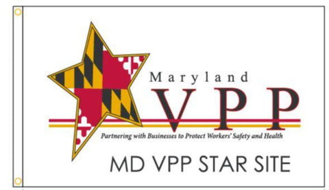 Maryland VPP Star Worksite Flag Double Sided - #1151628