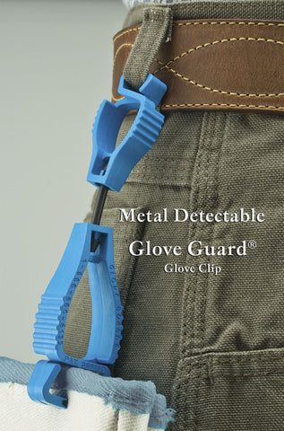 METAL DETECTABLE GLOVE GUARD CLIP - 20 Pack - #1939MDS