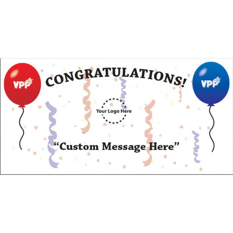 Congratulations Balloon Banner - #403370B