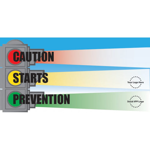 Caution Stop Light Banner - #224980
