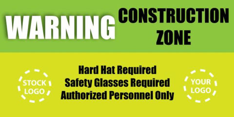 Warning Construction Zone Banner - #224987