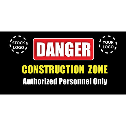 Danger Construction Zone Banner - #224989