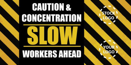Workers Ahead Banner - #225014
