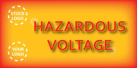 Hazardous Voltage Banner - #225020