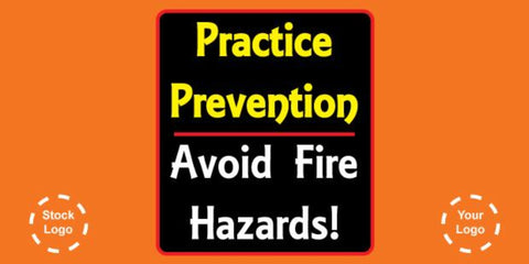 Practice Prevention, Avoid Fire Banner - #225030